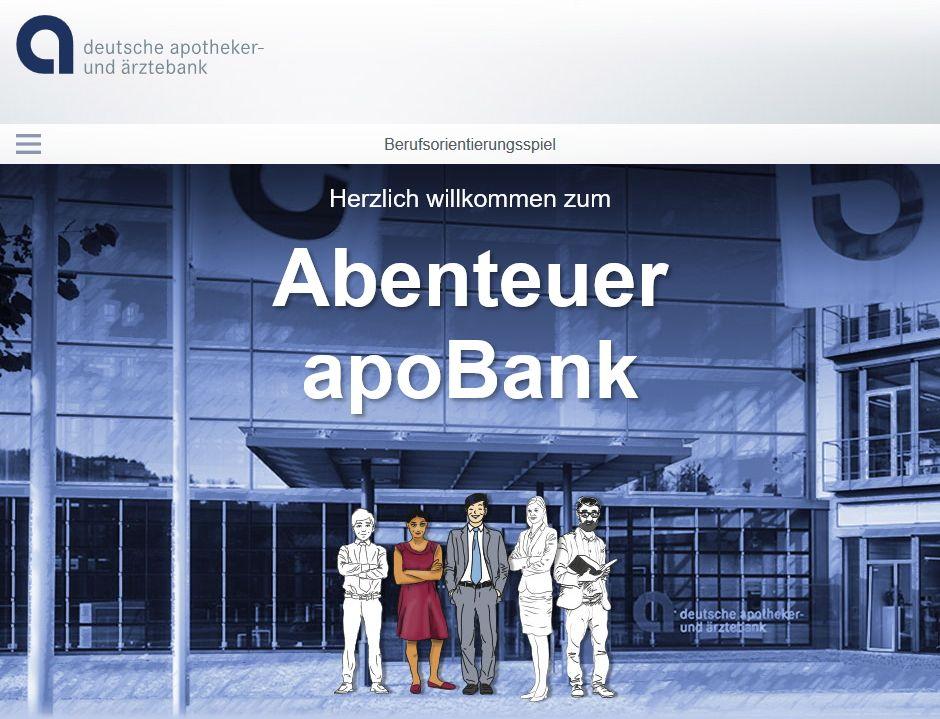 Spielerische Berufsorientierung Das Abenteuer Apobank Abenteuer Berufsorientierung Bank