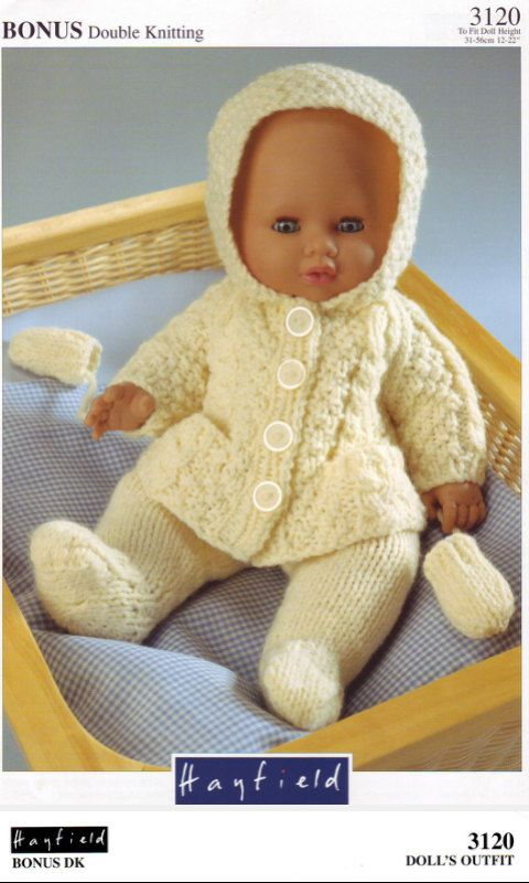 Baby Doll Jacket Leggings and Mittens Knitting Pattern PDF instant ...