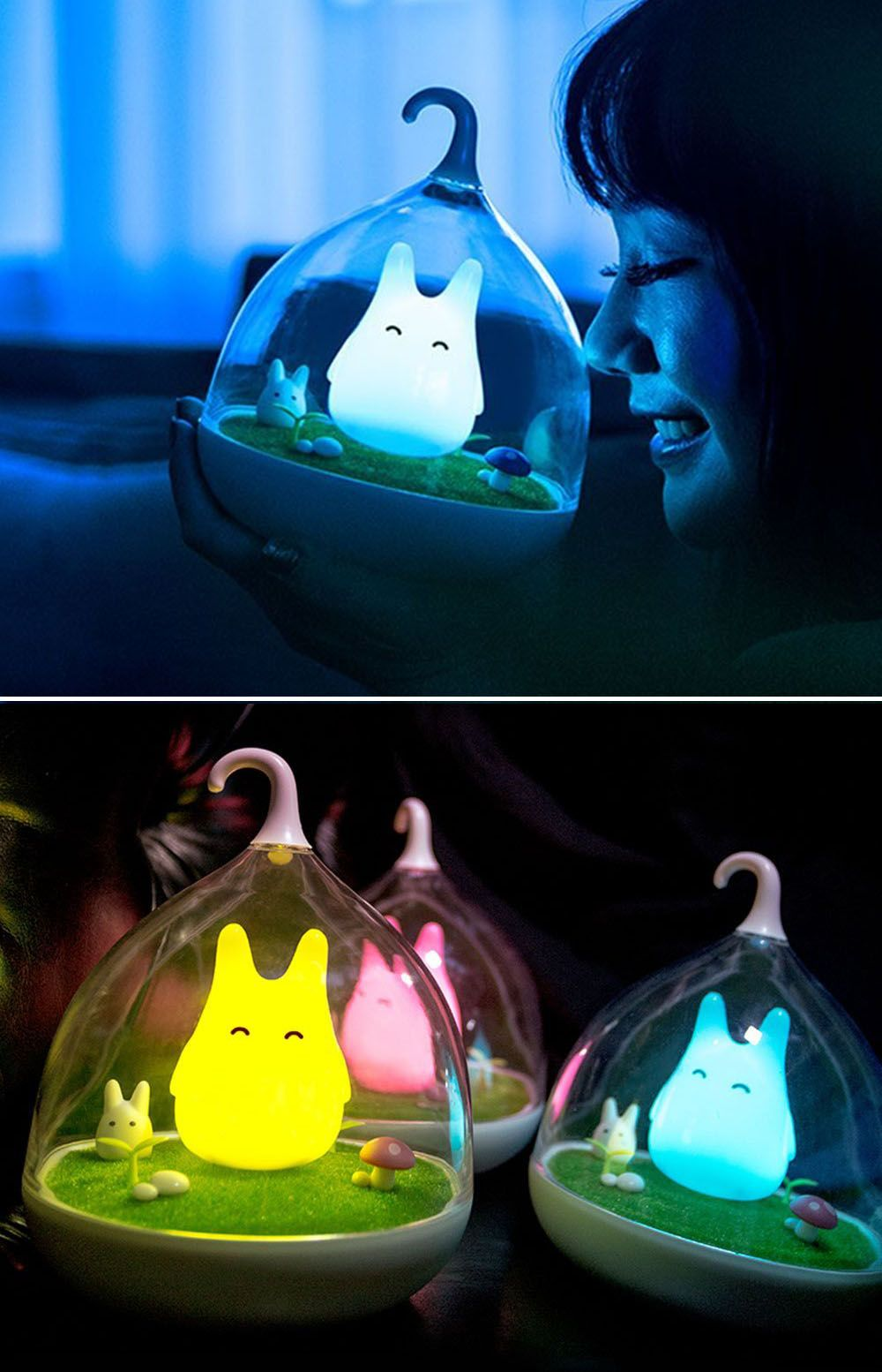 Led Night Lights 2019 Fashion Emoji Cute Unique Home Decoration 3d Poor Expression Led Touch Night Light 7 Color Changing Remote Control New Year Gift Present