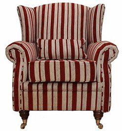 Wing Chair Fireside High Back Armchair Ruby Stripe Designer Sofas4u  Http://www.