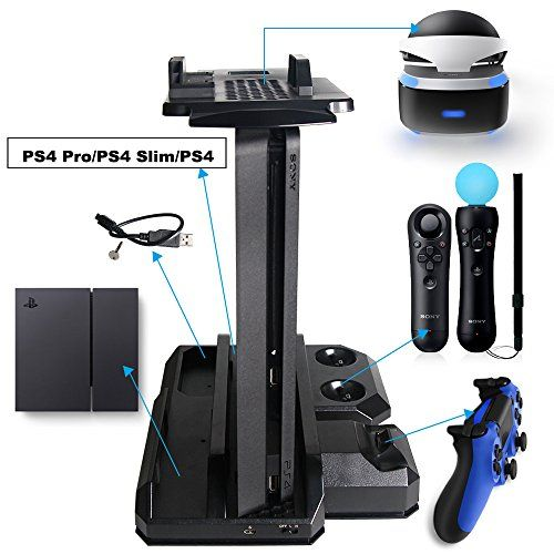 Dobe Ps Vr Display Stand 65291 Ps4 Pro Amp Ps4 Slim Amp Ps4 Multifunctional Vertical Stand For Sony Playst Ps4 Slim Ps4 Controller Charger Ps4 Slim Console