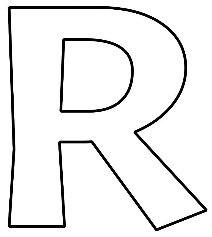 Crafty image inside letter r printable