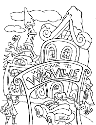 whoville coloring pages whoville houses coloring pages   Google Search | School  whoville coloring pages