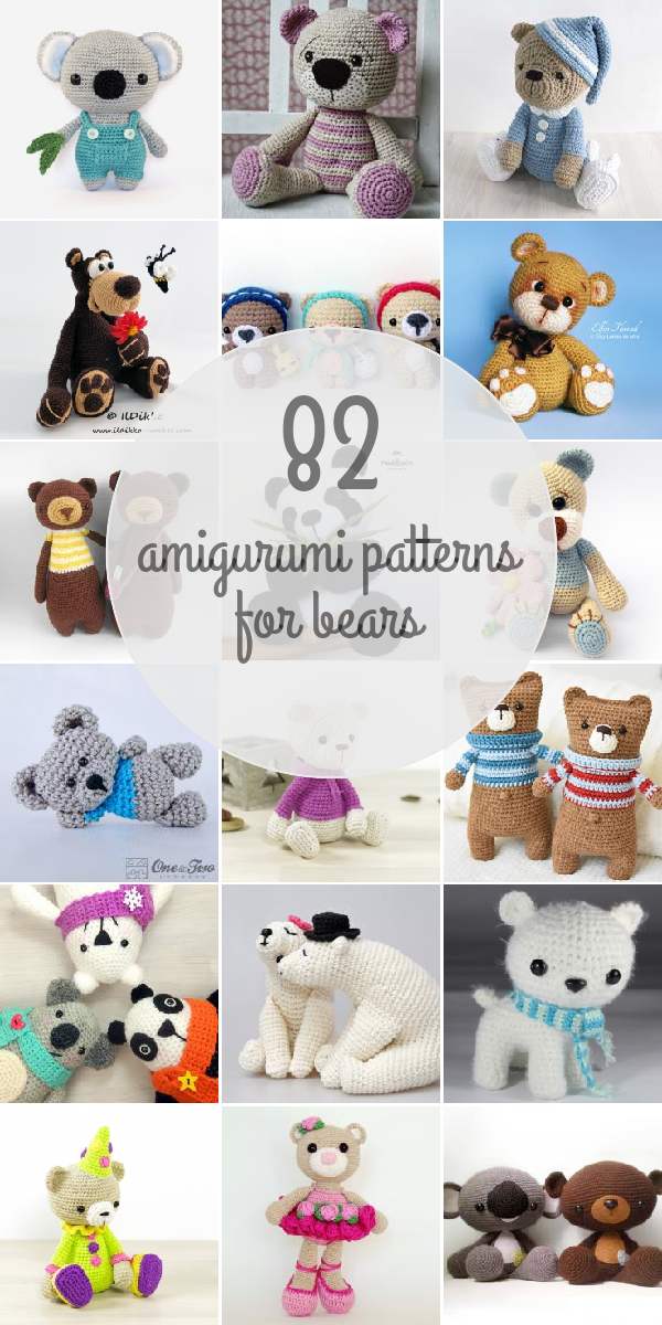Amigurumi Patterns For Bears | Amigurumi | Pinterest | Häkeln ...