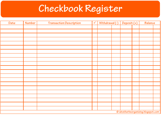 Mini Cheque Register 14