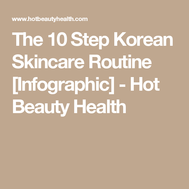 Skin Care Infographic: The 10 Step Korean Skincare Routine [Infographic] (Dengan