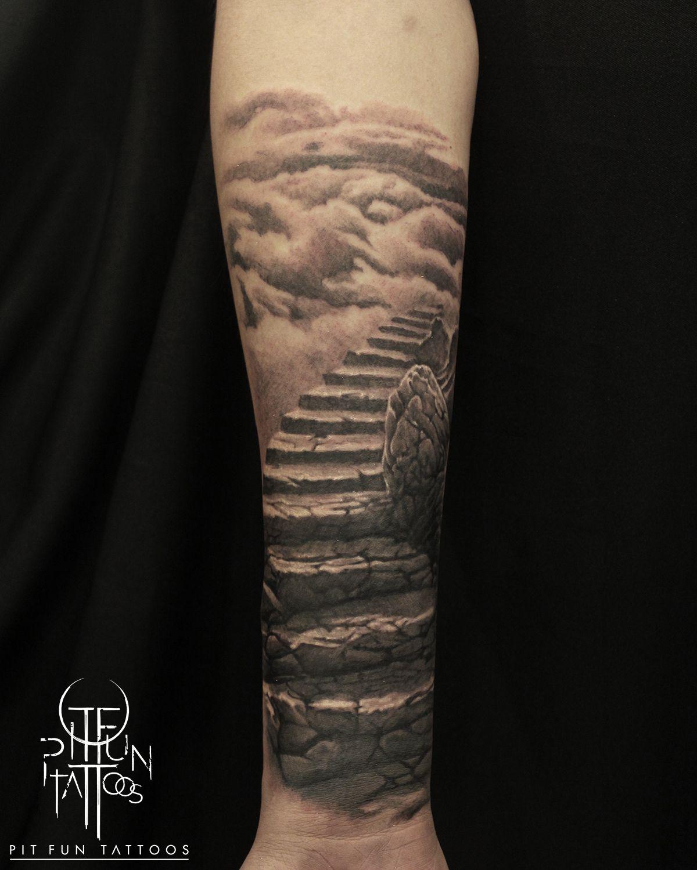 Stairway To Heaven Stairway To Heaven Tattoo Heaven Tattoos Stairs To Heaven Tattoo