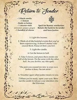 Return To Sender Easy Karmic Justice Spell With Lemon Revenge Spells Magic Spell Book Karma Spell