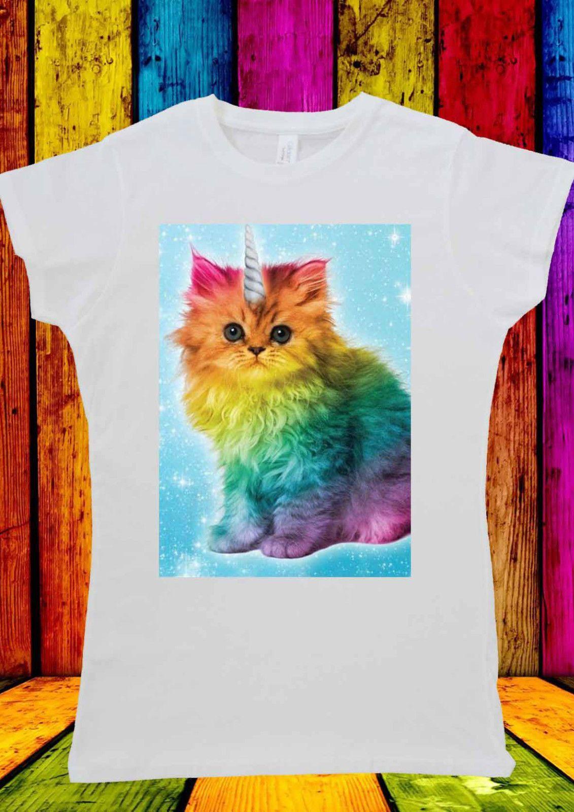 Caticorn Womens T Shirt T Shirts For Women Unicorn Cat Caticorn