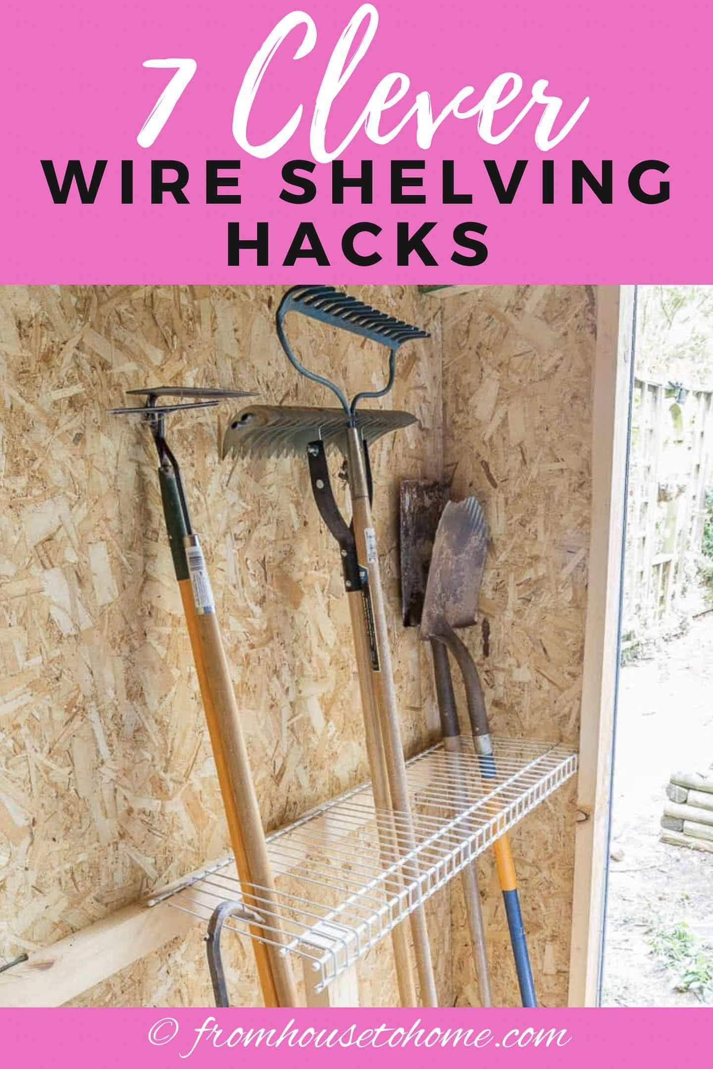 7 Clever Wire Shelving Hacks That Will Get You Organized In 2020