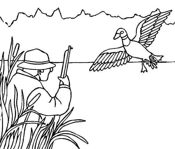 Hide Between Grass When Duck Hunting Coloring Pages Coloring Sky Deer Coloring Pages Coloring Pages For Kids Coloring Pages