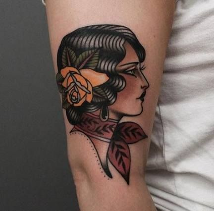 Tattoo girl old school flash art 61 trendy Ideas