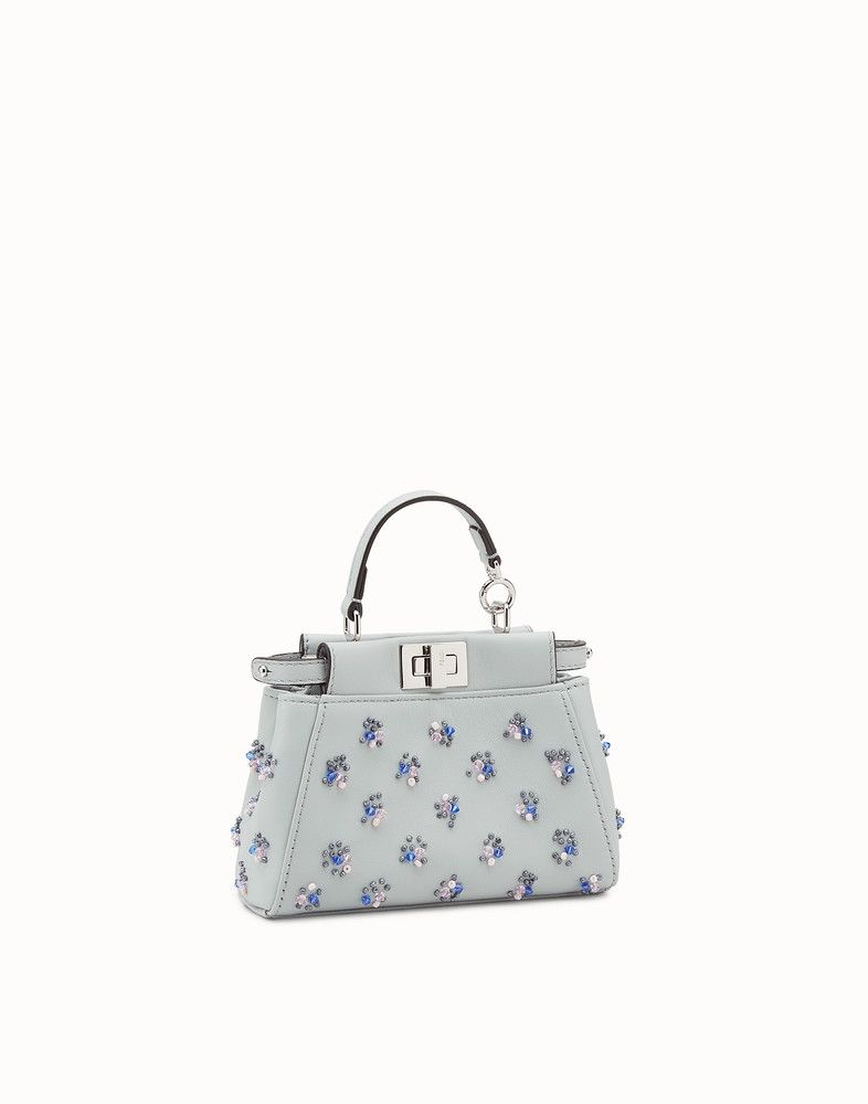 27061d32 Fendi - Micro Peekaboo grey leather micro-bag | My style | Fendi ...
