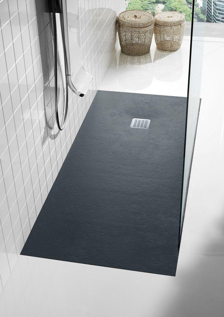 Anti Slip Rectangular Shower Tray Terran By Roca Bathroom Minimal Perfect For A Side Glass Divide Shower Remodeler La Douche Douche Beton Cabine De Douche