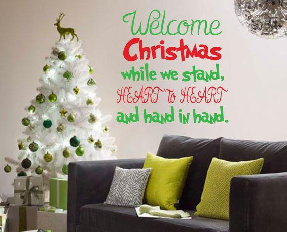 Merry Christmas Quote Wall Art Decal: Welcome Christmas The Grinch Quote Wall Decal Kids By