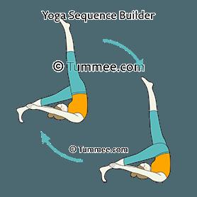 one legged shoulderstand pose leg flow yoga eka pada