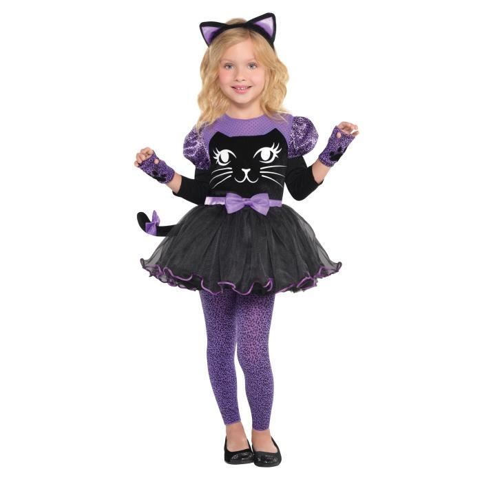 Quatang Gallery- Amscan Miss Meow Costume Fille Robe Et Diademe Mitaine Et Collants Costume Fille Costume D Halloween Fille Et Costume