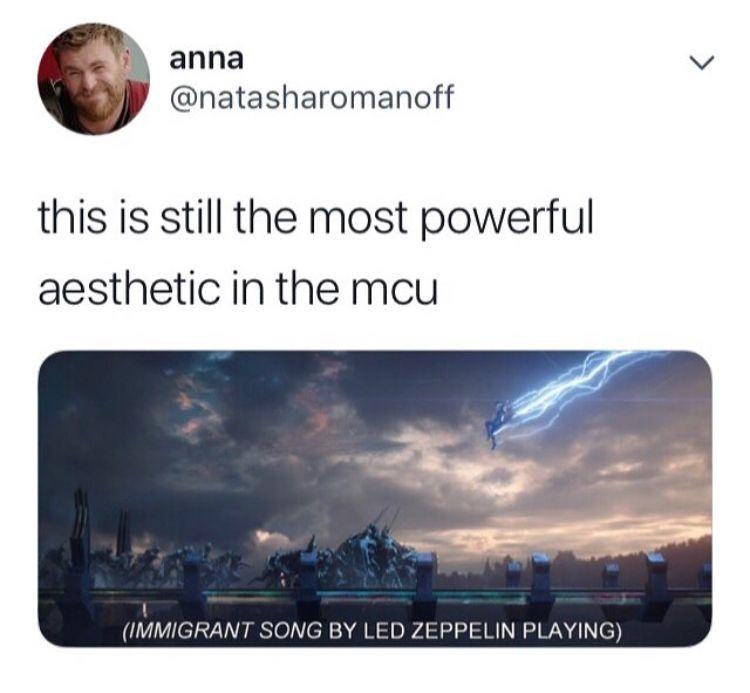 I Vote That The Scene Where Thor Lightnings Everyone In Wakanda Is