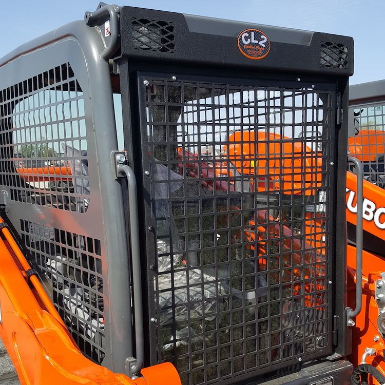 SKID STEER PROTECTION SCREEN FOR KUBOTA SVL 75 2 SVL 95 2