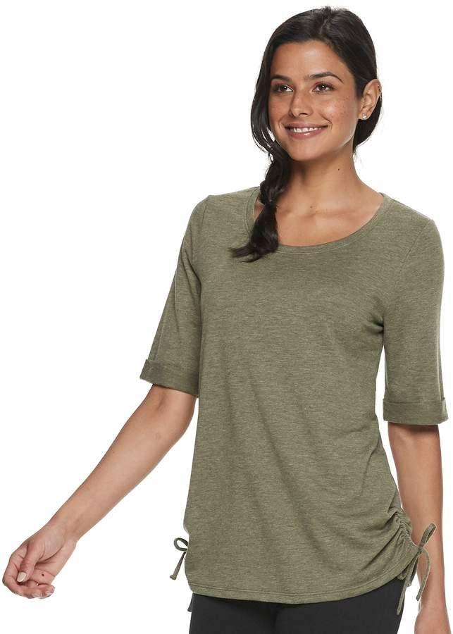 87af985ab2cef Sonoma Goods For Life Women s SONOMA Goods for Life Super Soft Cinched-Hem  Top