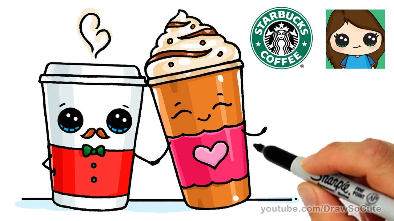 How To Draw A Drinks From Starbucks Easy Cute Food Drawings Cute Drawings Cartoon Drawings