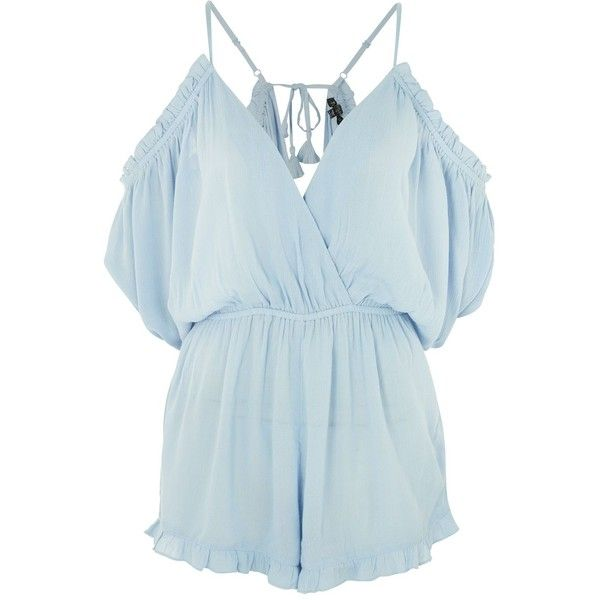 9b258dc742 TopShop Cold Shoulder Playsuit ( 52) ❤ liked on Polyvore featuring  jumpsuits