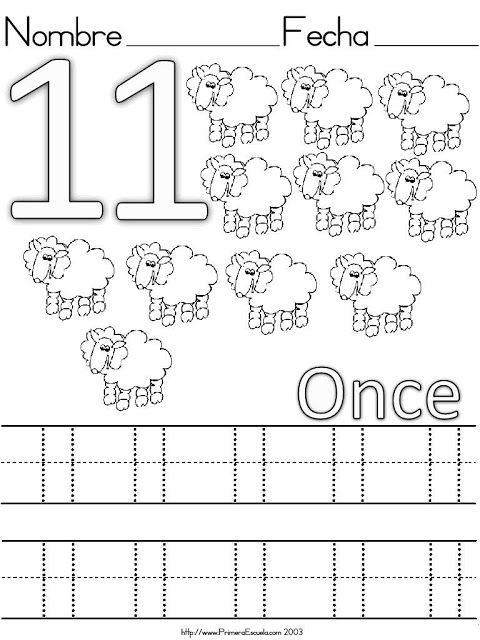 Fichas De Numeros Del 11 Al 20 Actividades De Aprendizaje Preescolares Aprendizaje De Los Numeros Fichas