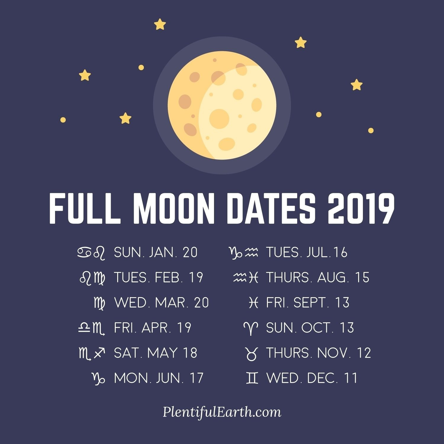 Get Full Moon November 2019 Calendar ⋆ The Best Printable