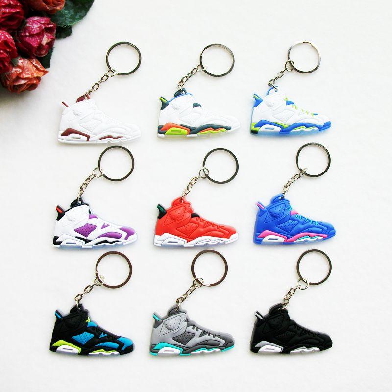 Mini Silicone Shoes Jordan 6 Keychain Key Chain Sneaker Car Key Holder  Woman Men Bag Charm Accessories Key Rings Pendant Gifts  Affiliate f9e8336b6c54