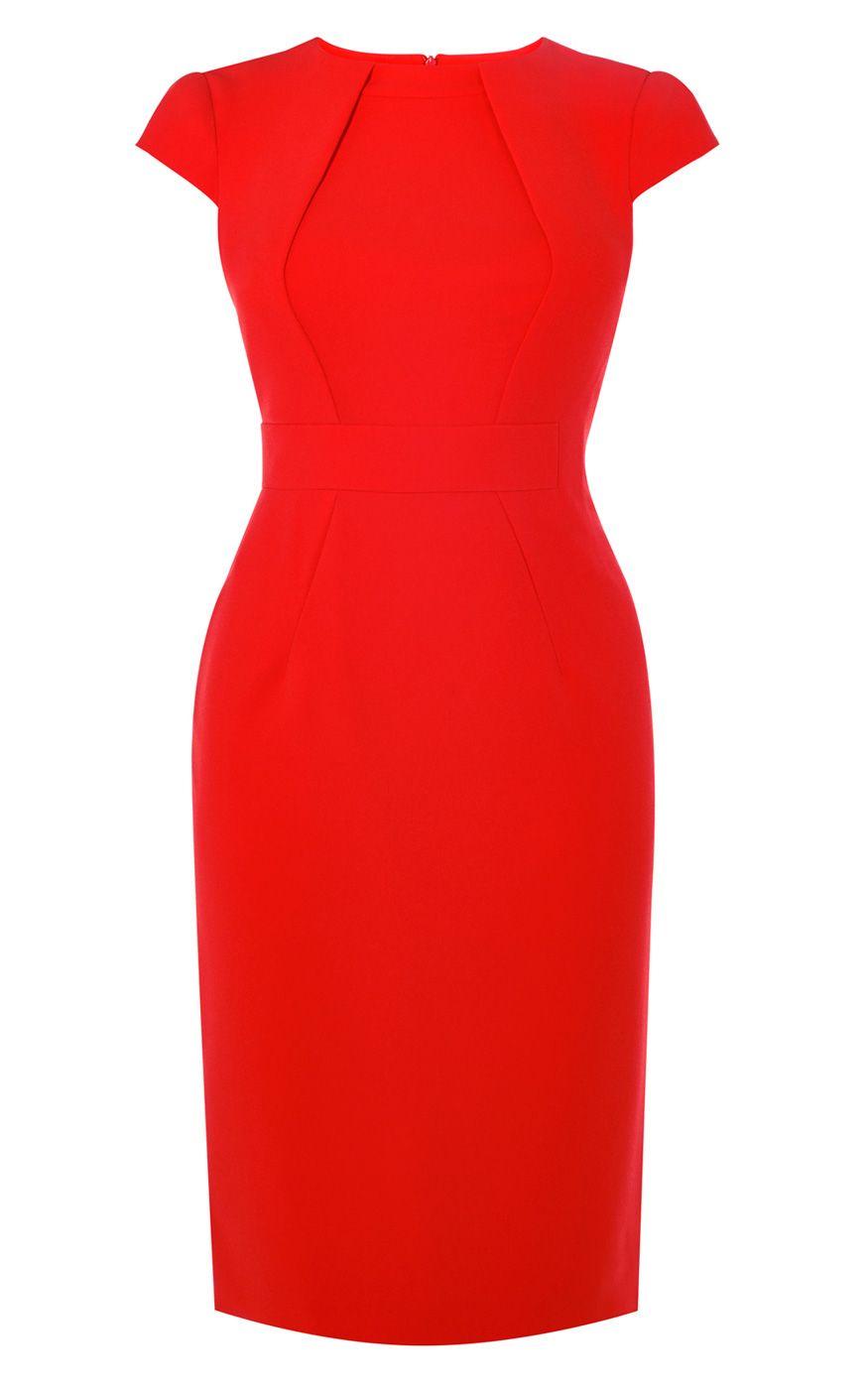 Red Pencil Dress | Karen Millen (DY114) | LookBook | Pinterest ...