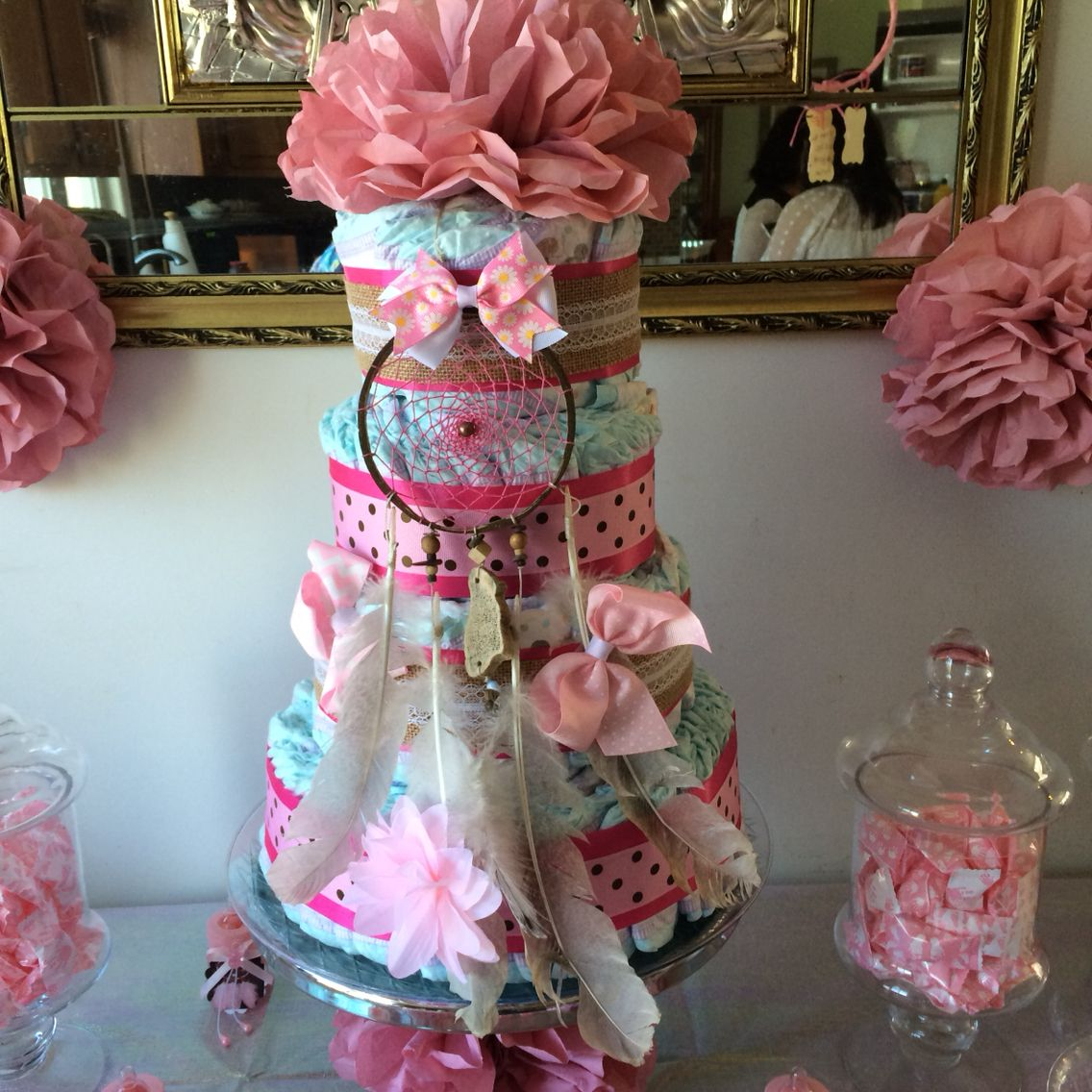 Dream Catcher Diaper Cake My Own Project Pinterest Dream Catchers Catcher And