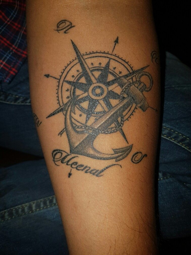 Pin By John Clarke On Tattoos Tattoos Anchor Tattoos Compass Tattoo