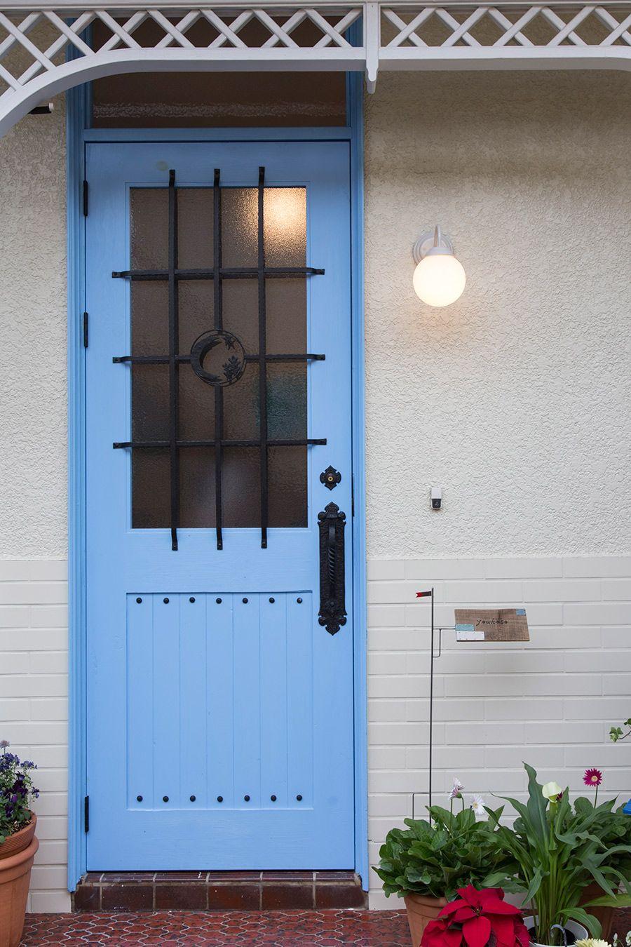 リビングドアはオリジナル Diyで塗装しました リビングドア ドア 家