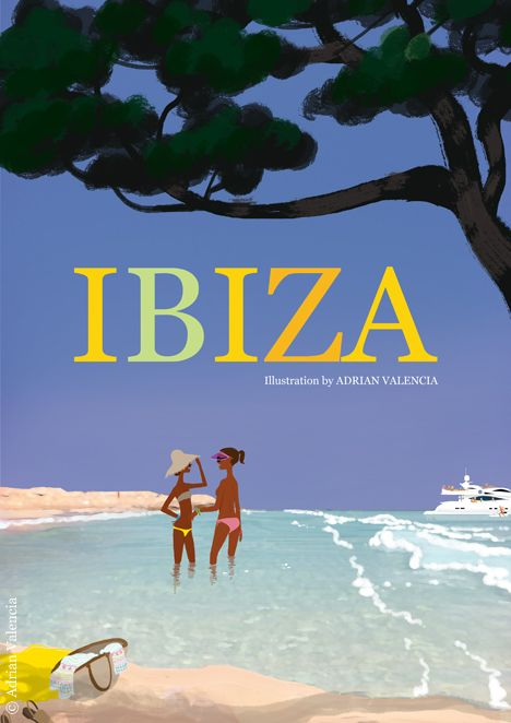 Ibiza illustration by Adrian Valencia