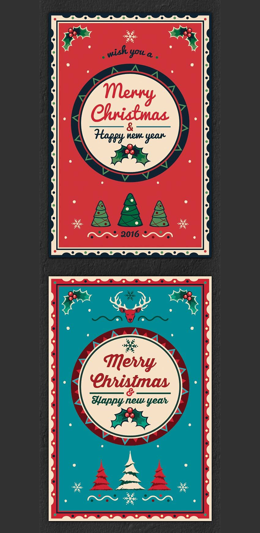 colorful card Greeting card template, Christmas greeting