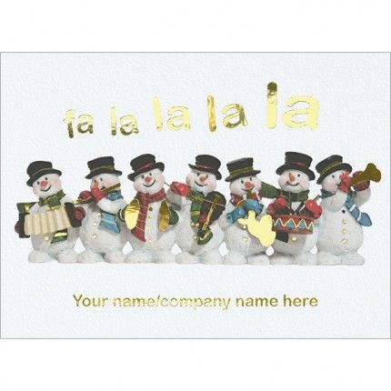 Fa La La Foil Personalised Christmas Cards - 2E225   Merry christmas, happy new year, Merry ...
