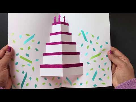 2 Diy Pop Up Cake Card Easy Birthday Card Youtube Easy Birthday Cards Diy Birthday Cards Diy Birthday Card Craft