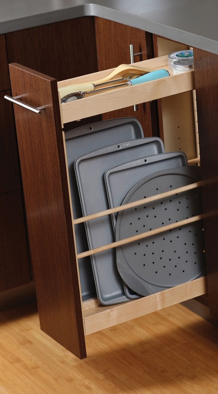 Tray Pull Out Cabinet From Dura Supreme Cabinetry Storing