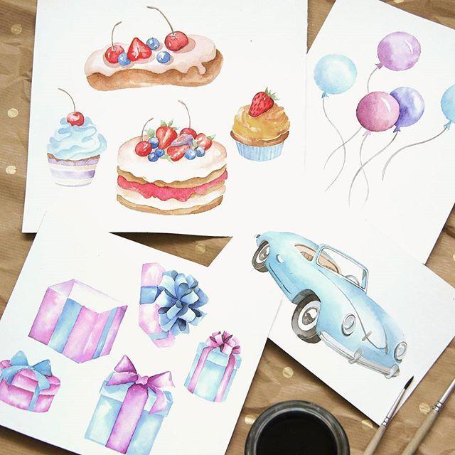Детали будущего подарочного сертификата А как кабриолет, сладости, шарики…