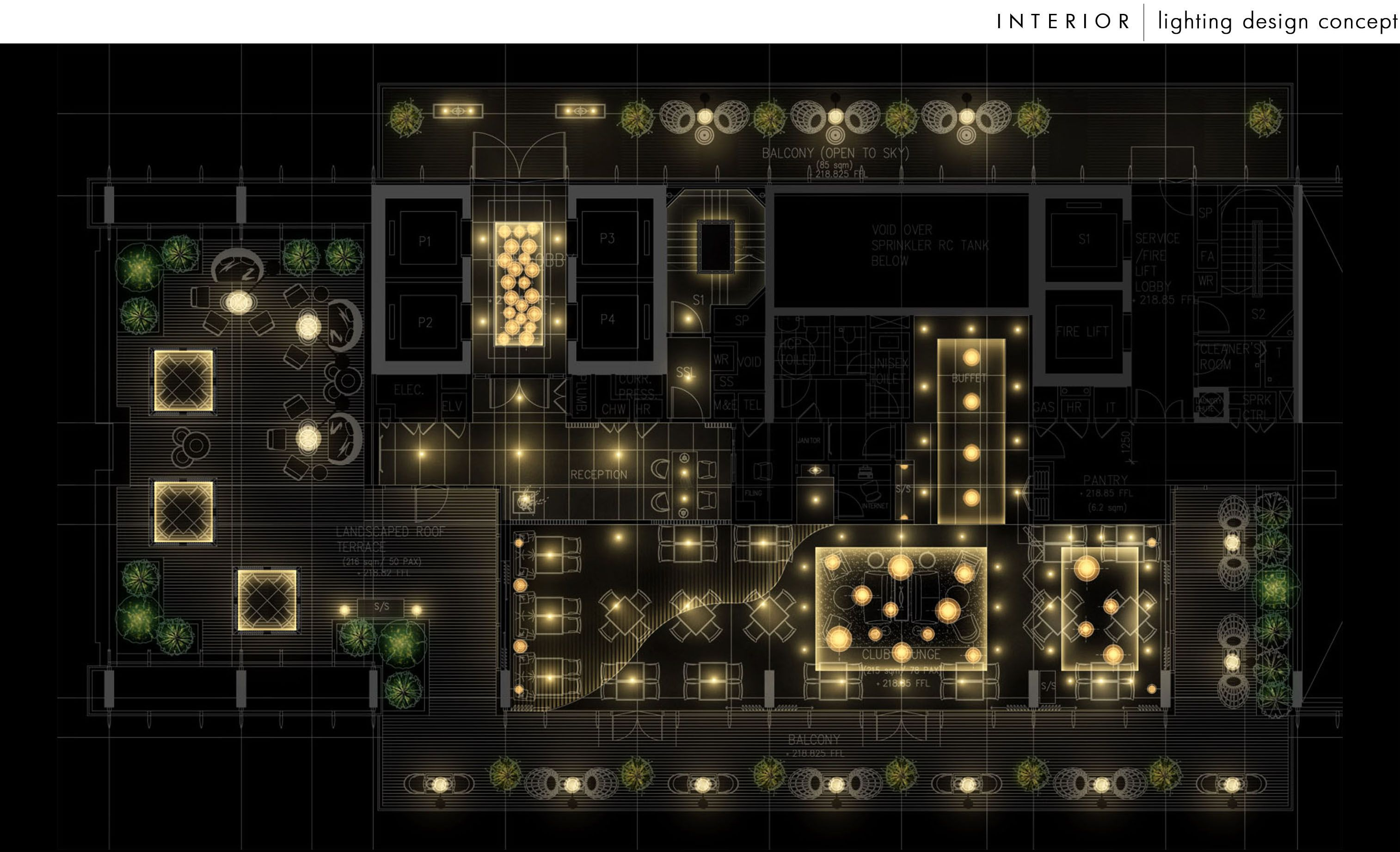 Commercial Interior Lighting Design Under Corporate