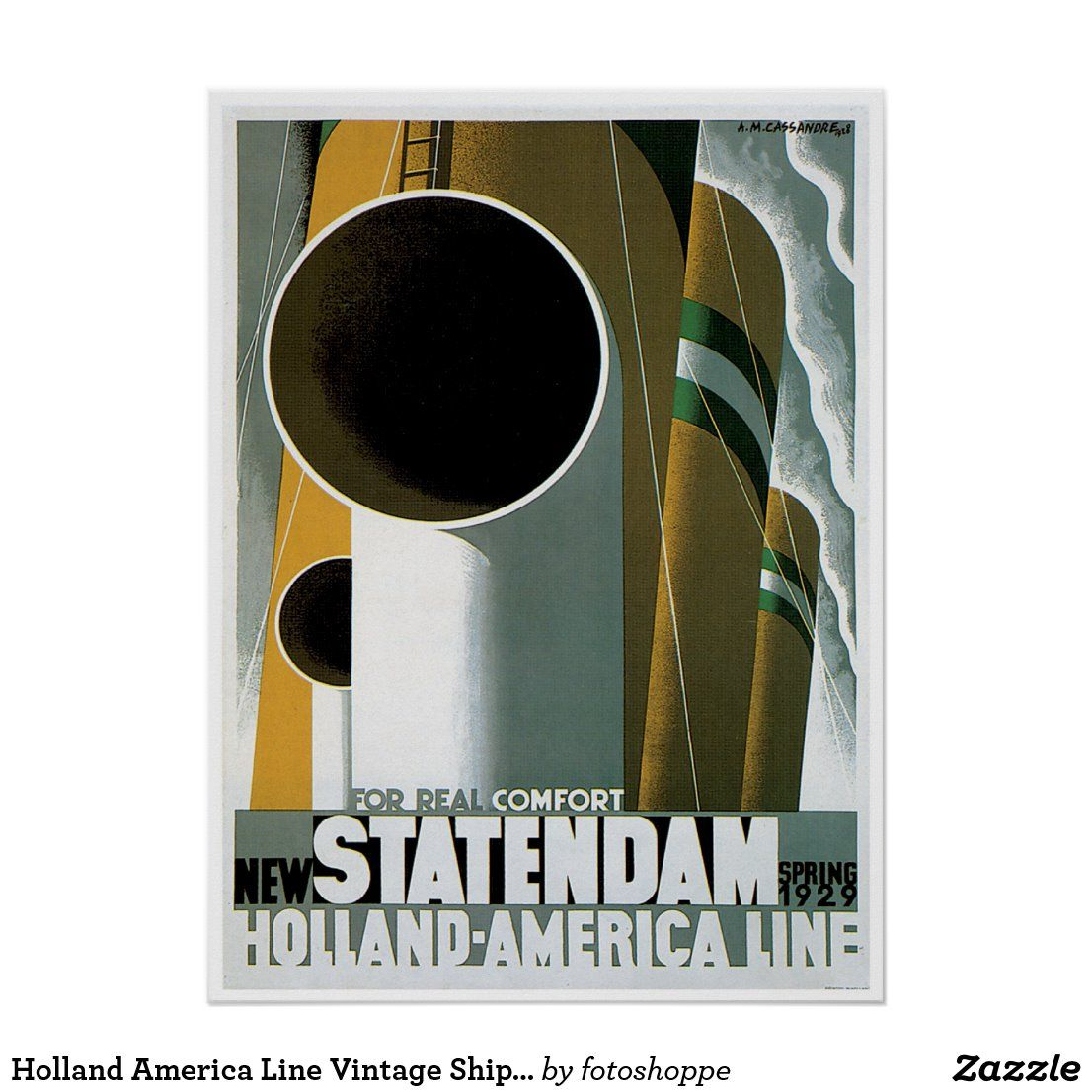 Holland America Line Vintage Posters