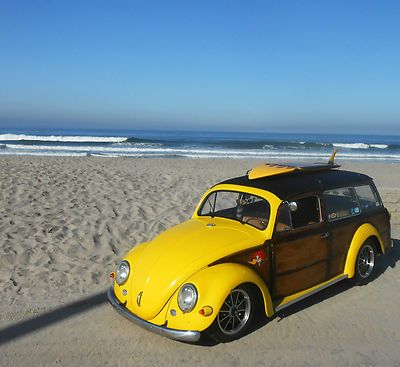 1956 Custom Wood and Wood-Look Paint VW Bug