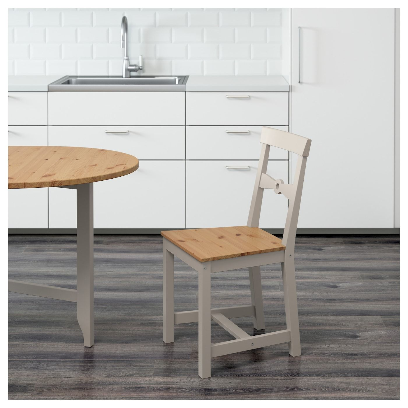 IKEA GAMLEBY Light Antique Stain, Gray Chair in 2020