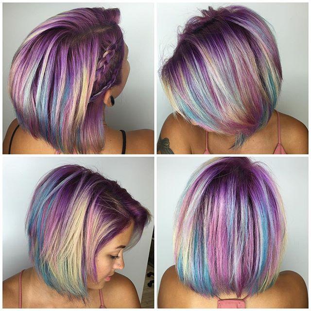 Unicorn Hair Unicorn Hair Color Short Hair Color Bright Hair
