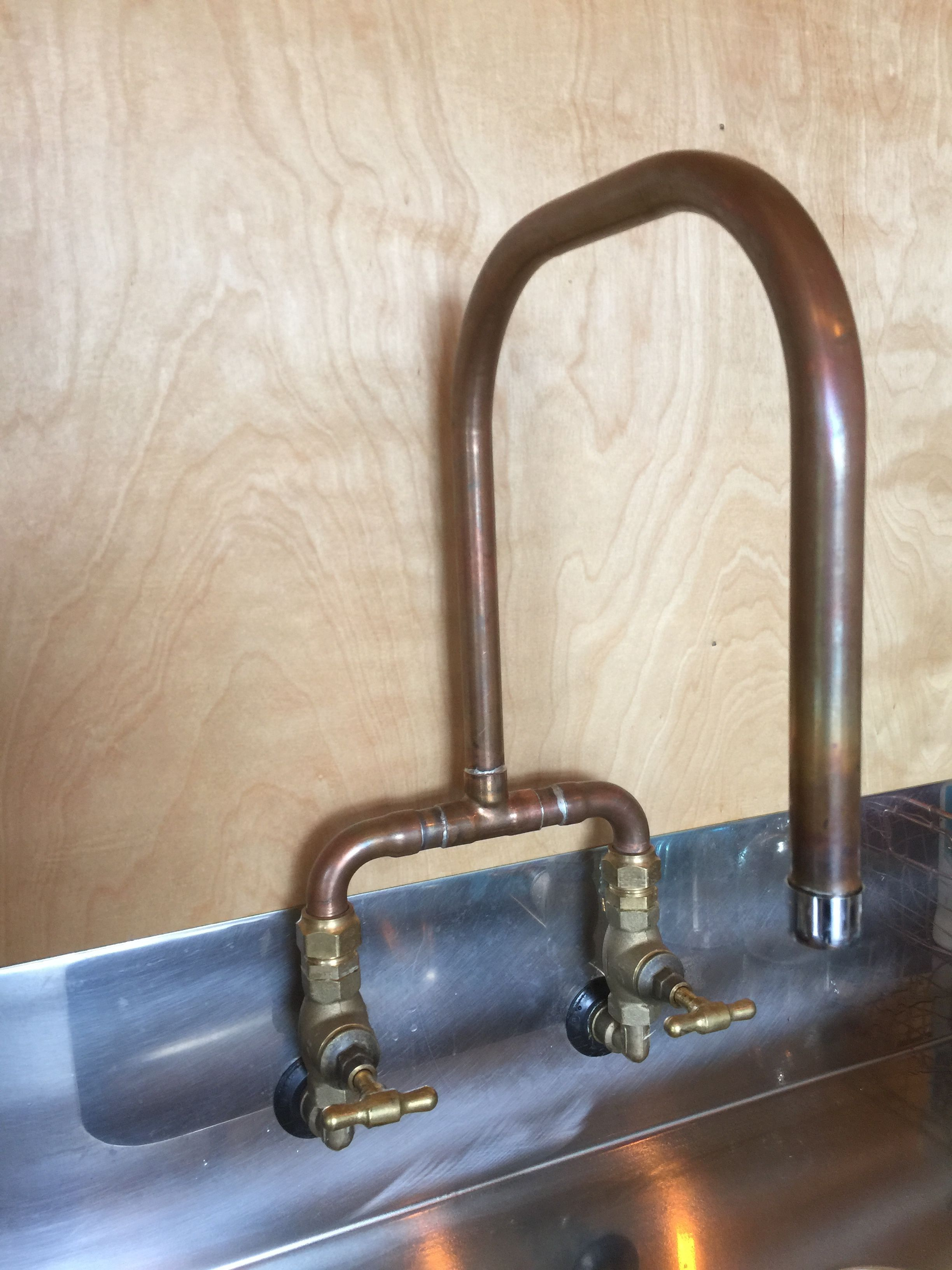 Copper Kitchen Mixer With Br Taps In