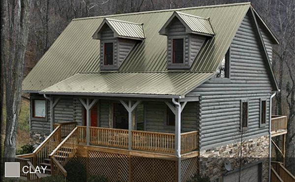 Steel Roof Clay Red Roof House Metal Roof Houses Log Cabin Exterior