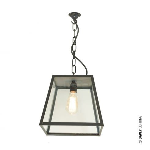 Davey Lighting 7635 Quad Medium Closed Top Weathered Brass Clear