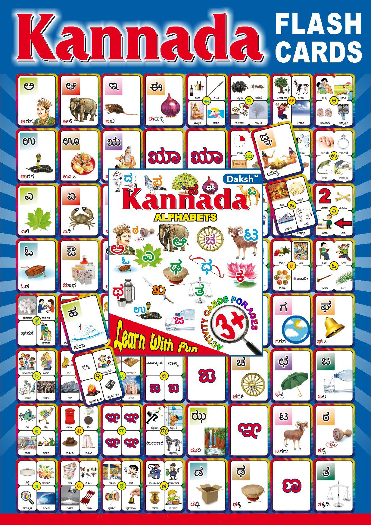 Unexpected Kannada Alphabets For Kids Chart In