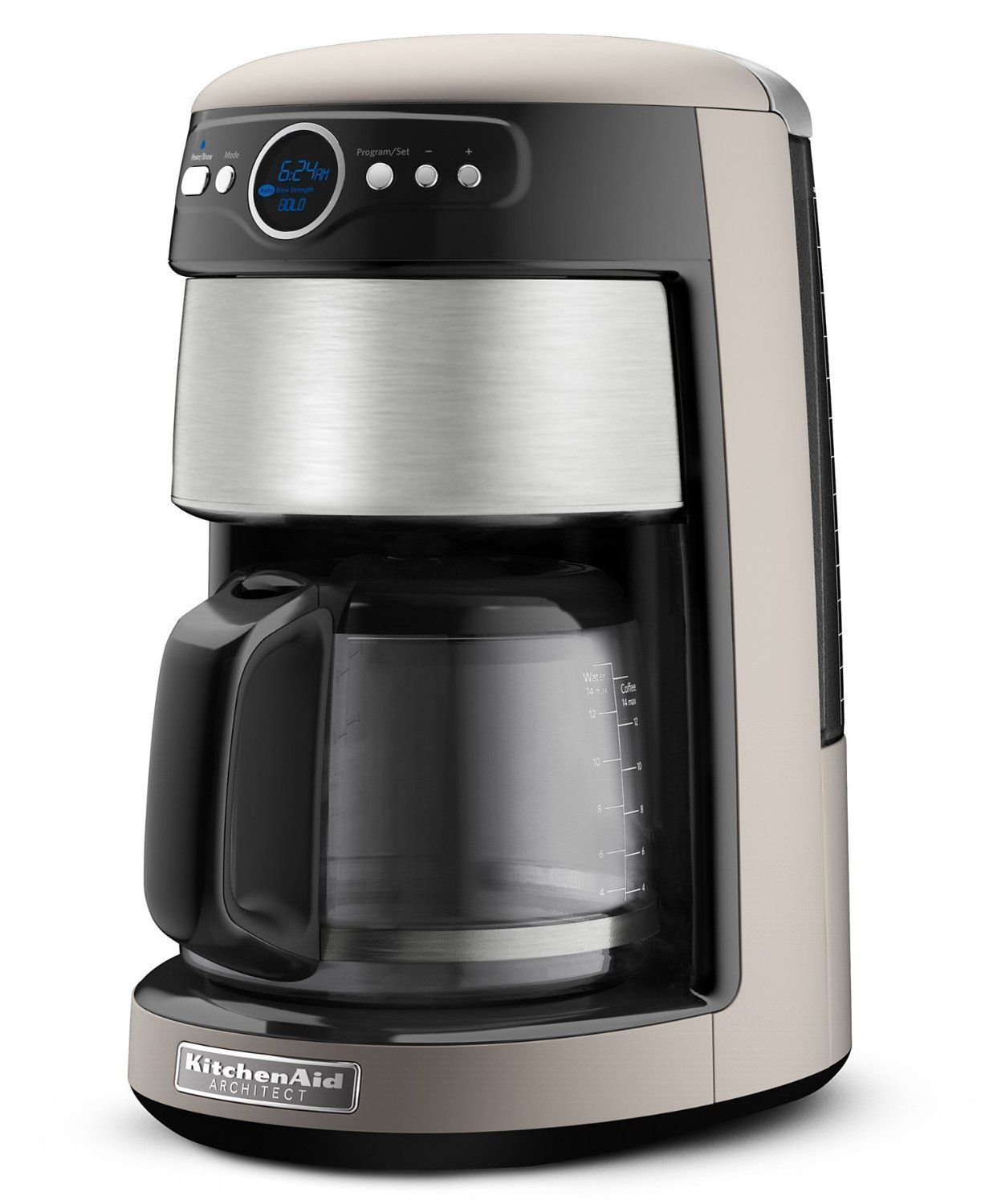 Kitchenaid kcm222cs silver and stainless steel front