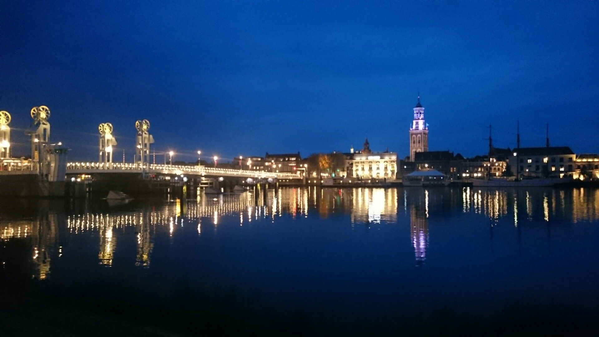 kampen in the evening
